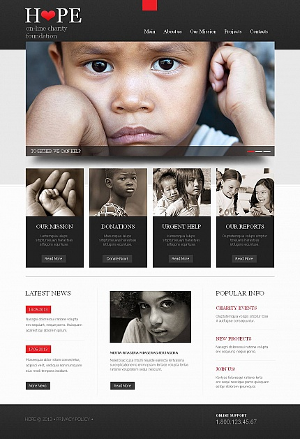 Most Popular Charity website inspirations at your coffee break? Browse for more Moto CMS HTML #templates! // Regular price: $139 // Sources available:<b>Sources Not Included</b> #Most Popular #Charity #Moto CMS HTML