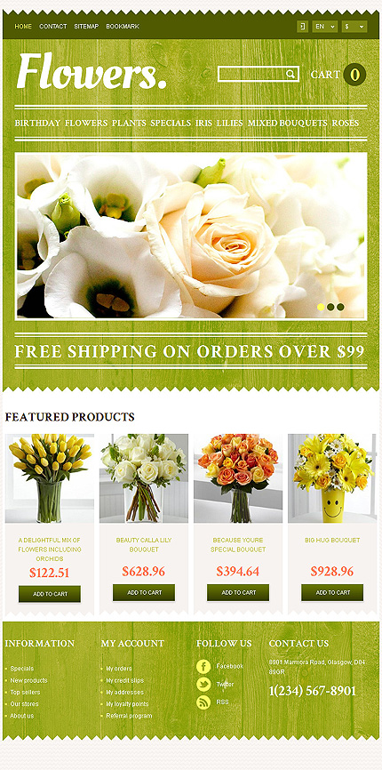 Flowers Most Popular website inspirations at your coffee break? Browse for more PrestaShop #templates! // Regular price: $139 // Sources available: .PSD, .PHP, .TPL #Flowers #Most Popular #PrestaShop
