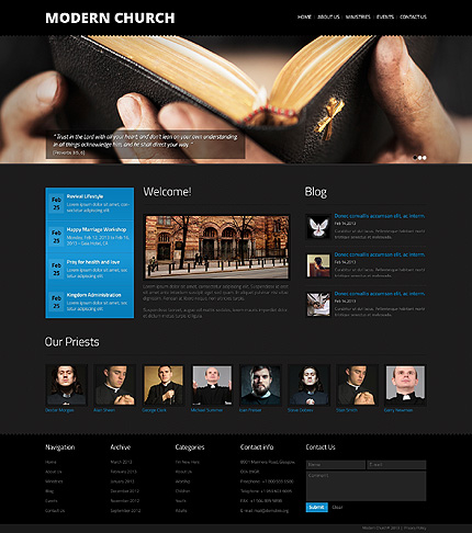 Religious website inspirations at your coffee break? Browse for more Bootstrap #templates! // Regular price: $75 // Sources available: .HTML,  .PSD #Religious #Bootstrap