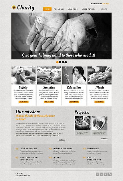 Charity website inspirations at your coffee break? Browse for more Moto CMS HTML #templates! // Regular price: $139 // Sources available:<b>Sources Not Included</b> #Charity #Moto CMS HTML
