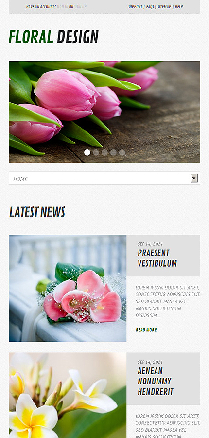 Flowers Most Popular website inspirations at your coffee break? Browse for more WordPress #templates! // Regular price: $75 // Sources available: .PSD, .PHP, This theme is widgetized #Flowers #Most Popular #WordPress