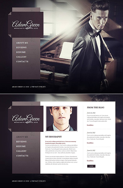 Personal Pages website inspirations at your coffee break? Browse for more Moto CMS HTML #templates! // Regular price: $139 // Sources available:<b>Sources Not Included</b> #Personal Pages #Moto CMS HTML