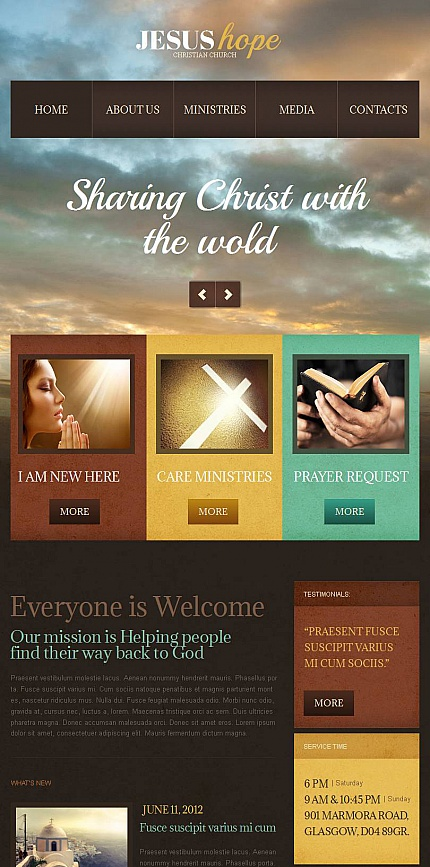 Religious website inspirations at your coffee break? Browse for more Facebook HTML CMS Template #templates! // Regular price: $59 // Sources available:<b>Sources Not Included</b> #Religious #Facebook HTML CMS Template