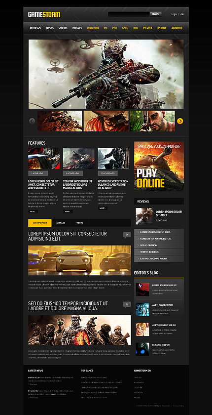 Games Most Popular website inspirations at your coffee break? Browse for more Responsive JavaScript Animated #templates! // Regular price: $69 // Sources available: .HTML,  .PSD #Games #Most Popular #Responsive JavaScript Animated