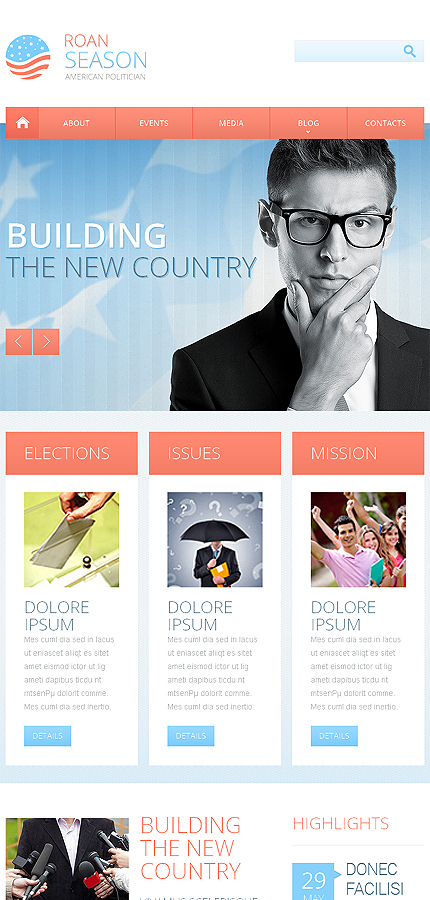 Politics Most Popular website inspirations at your coffee break? Browse for more Bootstrap #templates! // Regular price: $69 // Sources available: .HTML,  .PSD #Politics #Most Popular #Bootstrap
