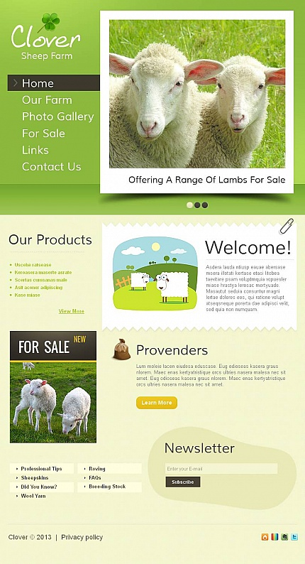 Agriculture website inspirations at your coffee break? Browse for more Facebook HTML CMS Template #templates! // Regular price: $59 // Sources available:<b>Sources Not Included</b> #Agriculture #Facebook HTML CMS Template