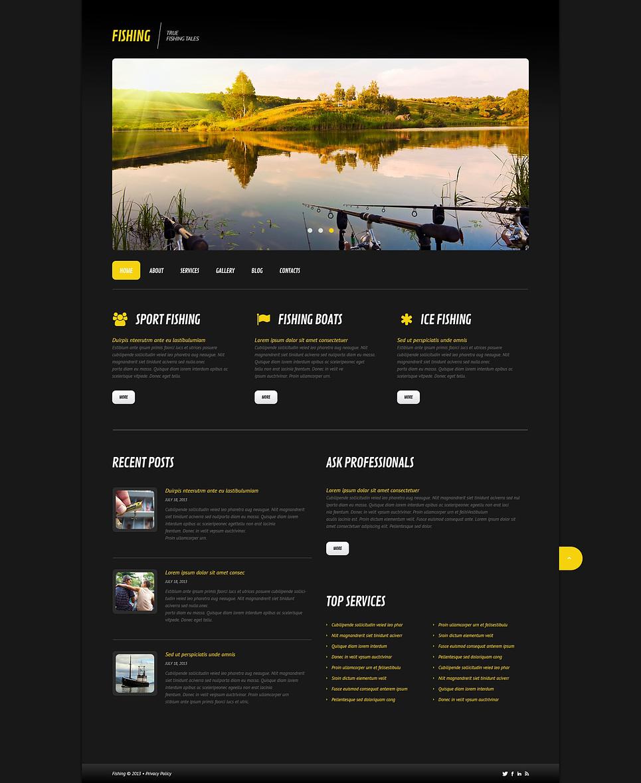 Шаблоны интернет магазинов fishing