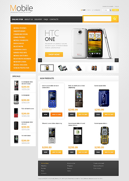 Electronics website inspirations at your coffee break? Browse for more VirtueMart #templates! // Regular price: $139 // Sources available: .HTML,  .PSD, .PHP, .XML, .CSS, .JS #Electronics #VirtueMart