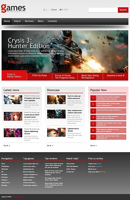 Games website inspirations at your coffee break? Browse for more Stretched Flash CMS Theme #templates! // Regular price: $99 // Sources available:.XFL #Games #Stretched Flash CMS Theme
