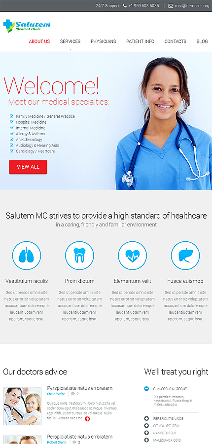 Medical Most Popular website inspirations at your coffee break? Browse for more Responsive JavaScript Animated #templates! // Regular price: $69 // Sources available: .HTML,  .PSD #Medical #Most Popular #Responsive JavaScript Animated