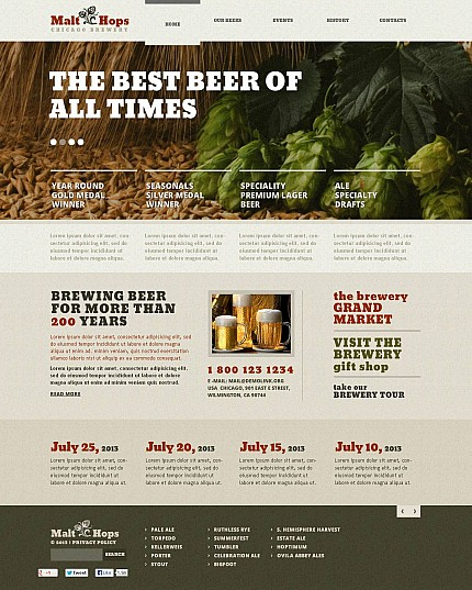 Brewery Templates website inspirations at your coffee break? Browse for more Stretched Flash CMS Theme #templates! // Regular price: $99 // Sources available:.XFL #Brewery Templates #Stretched Flash CMS Theme
