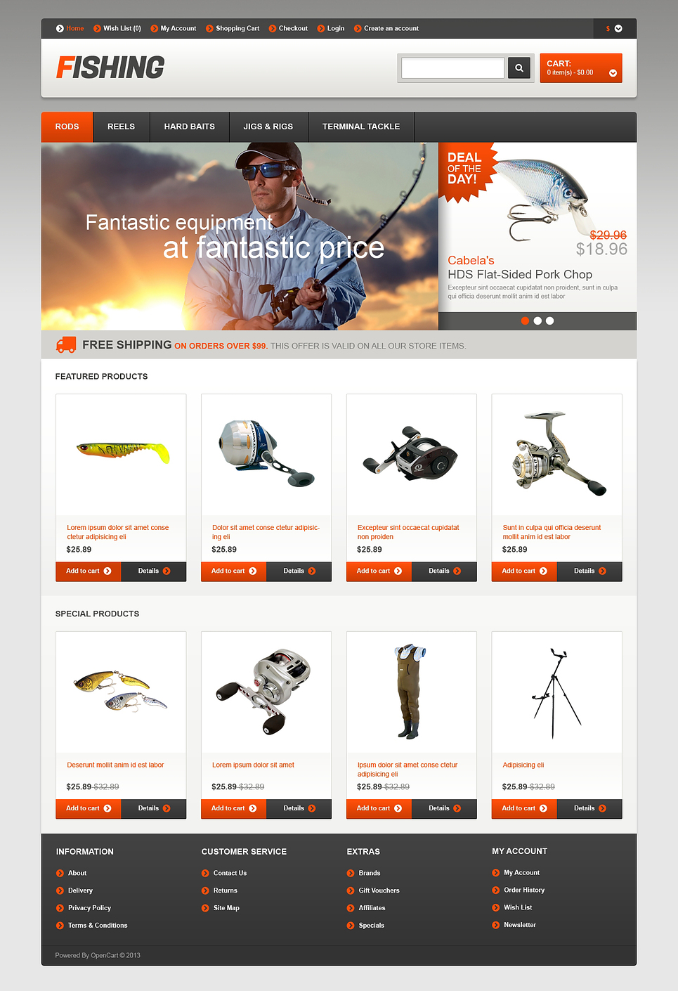 сайт заказа товара для рыбалки