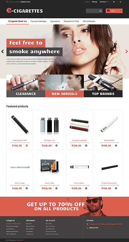 Most Popular Tobacco Templates website inspirations at your coffee break? Browse for more PrestaShop #templates! // Regular price: $139 // Sources available: .PSD, .PHP, .TPL #Most Popular #Tobacco Templates #PrestaShop