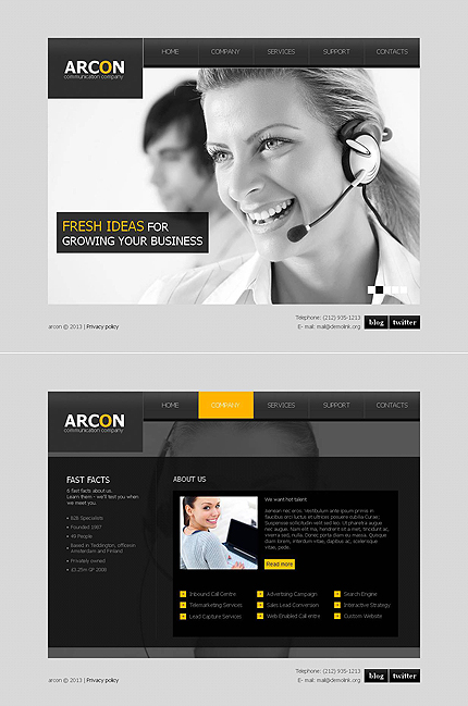 Communications website inspirations at your coffee break? Browse for more Moto CMS HTML #templates! // Regular price: $139 // Sources available:<b>Sources Not Included</b> #Communications #Moto CMS HTML