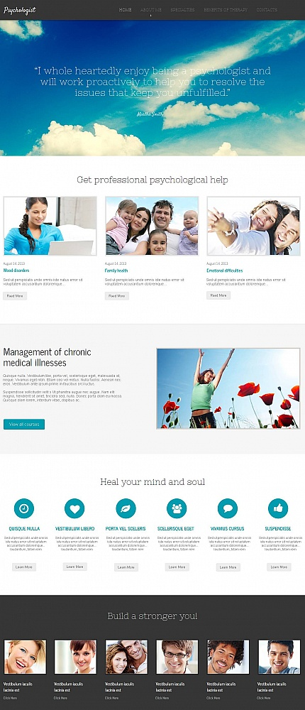 Medical website inspirations at your coffee break? Browse for more Moto CMS HTML #templates! // Regular price: $139 // Sources available:<b>Sources Not Included</b> #Medical #Moto CMS HTML