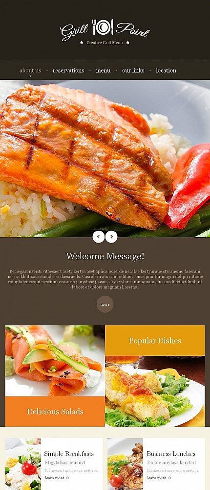 Cafe And Restaurant Facebook Html Cms Template Template 46962