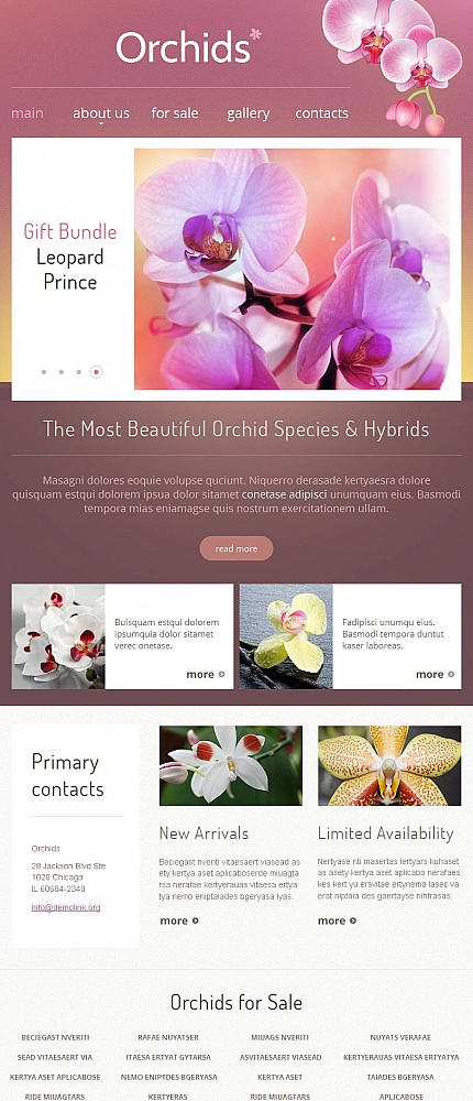 Flowers website inspirations at your coffee break? Browse for more Facebook HTML CMS Template #templates! // Regular price: $59 // Sources available:<b>Sources Not Included</b> #Flowers #Facebook HTML CMS Template