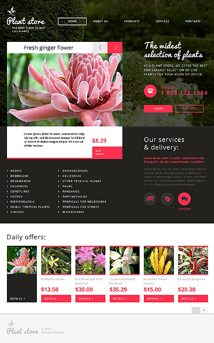 Flowers Most Popular website inspirations at your coffee break? Browse for more Responsive JavaScript Animated #templates! // Regular price: $69 // Sources available: .HTML,  .PSD #Flowers #Most Popular #Responsive JavaScript Animated
