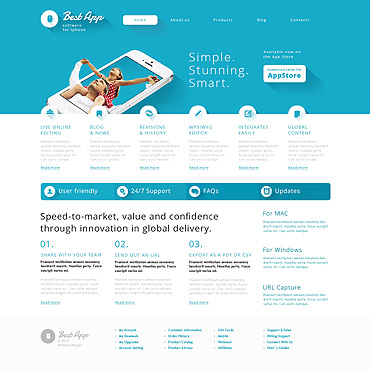 WordPress Theme # 47009