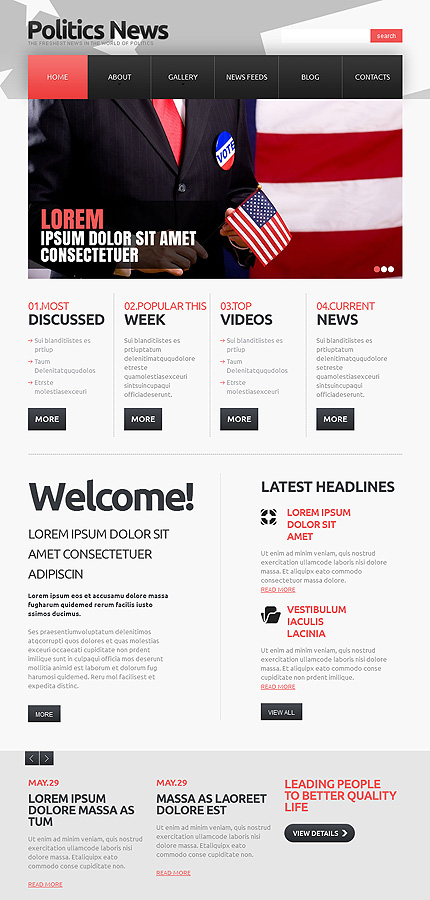 Politics Most Popular website inspirations at your coffee break? Browse for more Joomla #templates! // Regular price: $75 // Sources available: .PSD, .PHP #Politics #Most Popular #Joomla