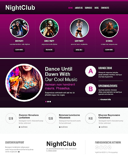 Night Club Joomla Template