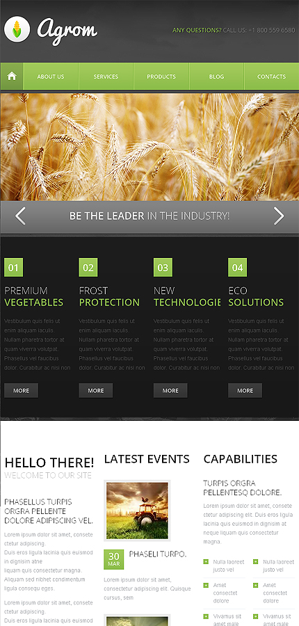 Agriculture Most Popular website inspirations at your coffee break? Browse for more Drupal #templates! // Regular price: $75 // Sources available: .PSD, .PHP #Agriculture #Most Popular #Drupal