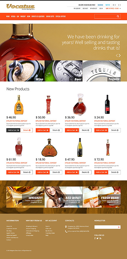 Halloween Templates website inspirations at your coffee break? Browse for more Magento #templates! // Regular price: $179 // Sources available: .PSD, .XML, .PHTML, .CSS #Halloween Templates #Magento