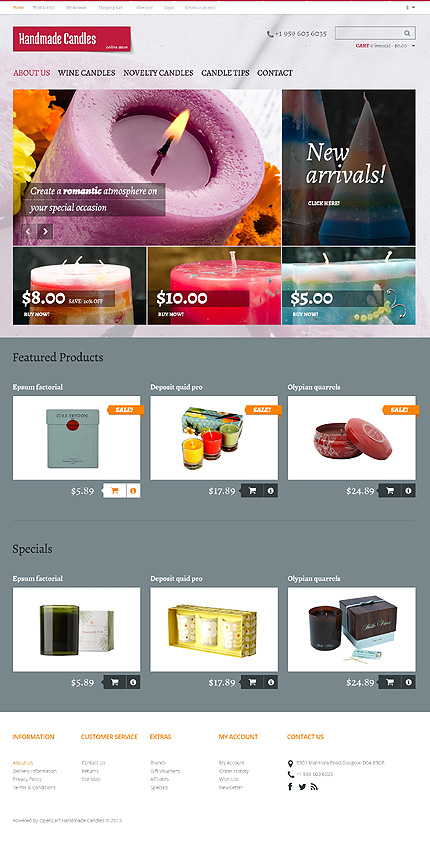 Hobbies & Crafts website inspirations at your coffee break? Browse for more OpenCart #templates! // Regular price: $89 // Sources available: .PSD, .PNG, .PHP, .TPL, .JS #Hobbies & Crafts #OpenCart