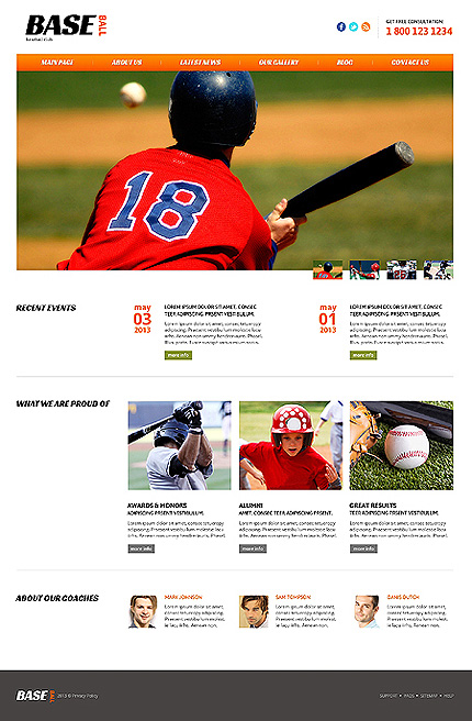 Sport website inspirations at your coffee break? Browse for more Joomla #templates! // Regular price: $75 // Sources available: .PSD, .PHP #Sport #Joomla