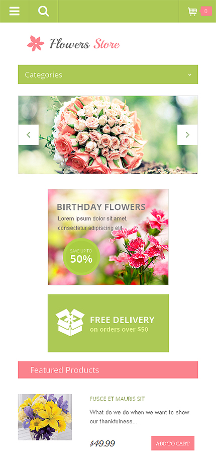 Flowers Most Popular website inspirations at your coffee break? Browse for more OpenCart #templates! // Regular price: $54 // Sources available: .PSD, .PNG, .PHP, .TPL, .JS #Flowers #Most Popular #OpenCart