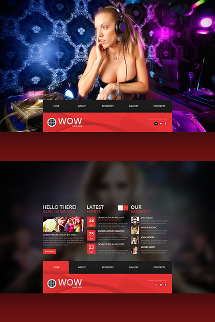 Night Club website inspirations at your coffee break? Browse for more JavaScript Based #templates! // Regular price: $67 // Sources available: .HTML,  .PSD #Night Club #JavaScript Based