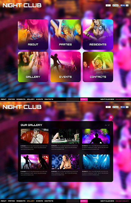 Night Club Most Popular website inspirations at your coffee break? Browse for more Stretched Flash CMS Theme #templates! // Regular price: $99 // Sources available:.XFL #Night Club #Most Popular #Stretched Flash CMS Theme