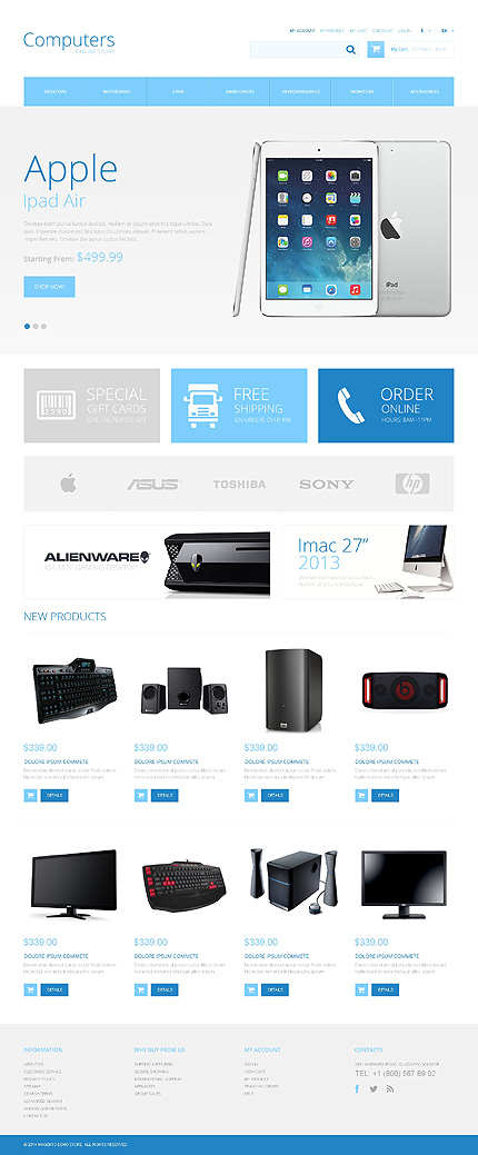 Computers Most Popular website inspirations at your coffee break? Browse for more Magento #templates! // Regular price: $179 // Sources available: .PSD, .XML, .PHTML, .CSS #Computers #Most Popular #Magento