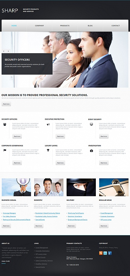 Security website inspirations at your coffee break? Browse for more Moto CMS HTML #templates! // Regular price: $139 // Sources available:<b>Sources Not Included</b> #Security #Moto CMS HTML