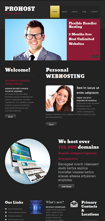 Hosting website inspirations at your coffee break? Browse for more WordPress #templates! // Regular price: $75 // Sources available: .PSD, .PHP, This theme is widgetized #Hosting #WordPress