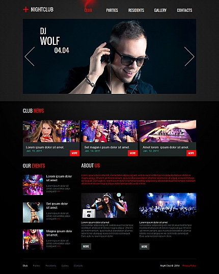 Night Club Most Popular website inspirations at your coffee break? Browse for more Moto CMS HTML #templates! // Regular price: $139 // Sources available:<b>Sources Not Included</b> #Night Club #Most Popular #Moto CMS HTML