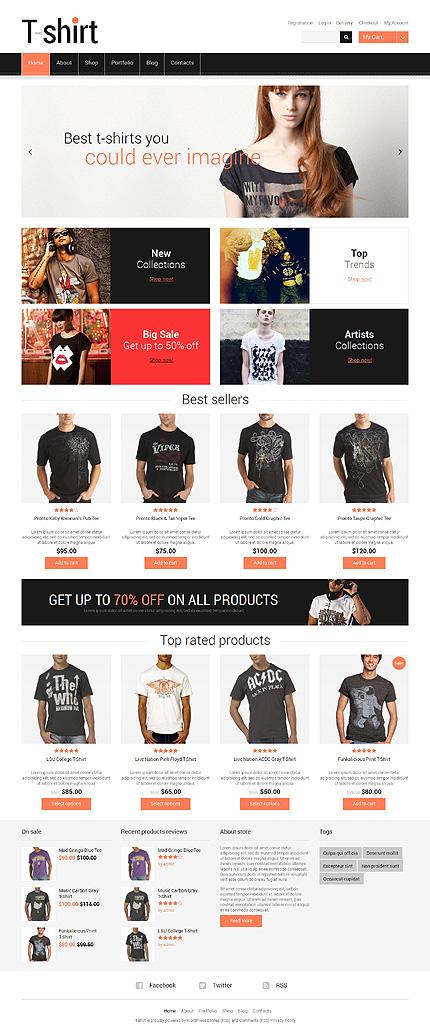 TShirts with Sense Responsive WooCommerce Theme
