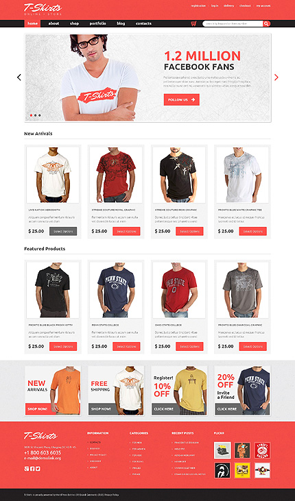 Create Tshirts Store Using WooCommerce Theme