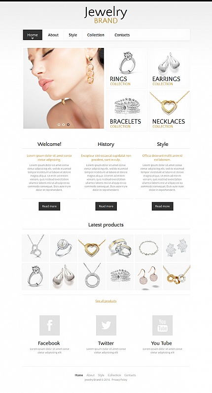 Jewelry website inspirations at your coffee break? Browse for more Moto CMS HTML #templates! // Regular price: $139 // Sources available:<b>Sources Not Included</b> #Jewelry #Moto CMS HTML