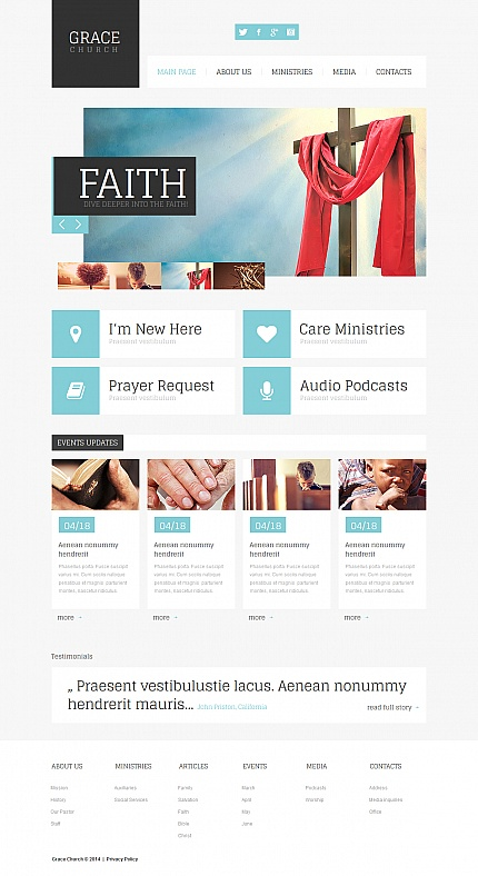 Religious Most Popular website inspirations at your coffee break? Browse for more Moto CMS HTML #templates! // Regular price: $139 // Sources available:<b>Sources Not Included</b> #Religious #Most Popular #Moto CMS HTML