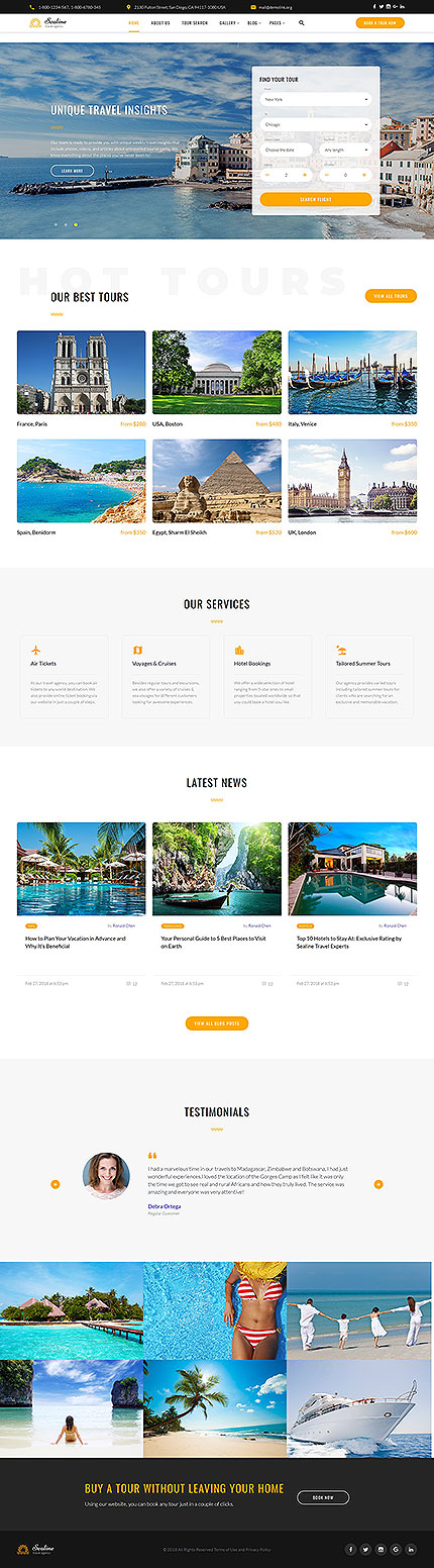 Travel Most Popular website inspirations at your coffee break? Browse for more Bootstrap #templates! // Regular price: $72 // Sources available: .HTML,  .PSD #Travel #Most Popular #Bootstrap