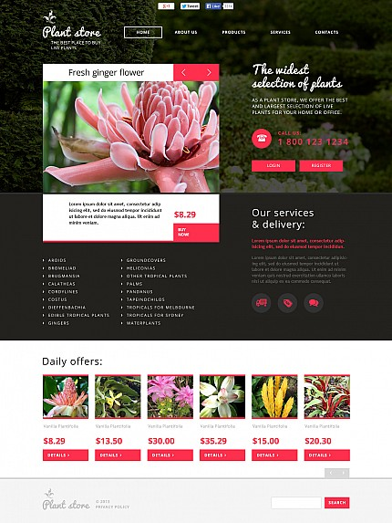 Flowers website inspirations at your coffee break? Browse for more Stretched Flash CMS Theme #templates! // Regular price: $99 // Sources available:.XFL #Flowers #Stretched Flash CMS Theme