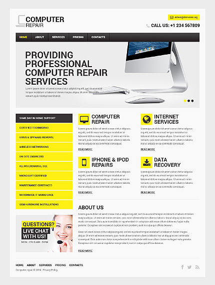 Computers Most Popular website inspirations at your coffee break? Browse for more Responsive JavaScript Animated #templates! // Regular price: $69 // Sources available: .HTML,  .PSD #Computers #Most Popular #Responsive JavaScript Animated