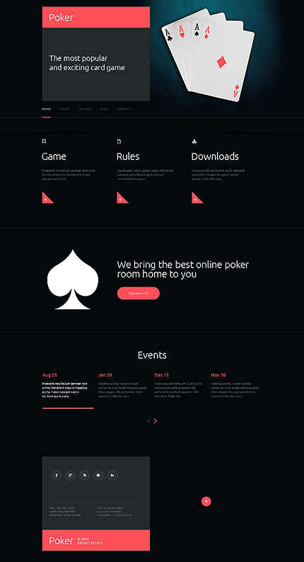 Online Casino website inspirations at your coffee break? Browse for more Responsive JavaScript Animated #templates! // Regular price: $69 // Sources available: .HTML,  .PSD #Online Casino #Responsive JavaScript Animated