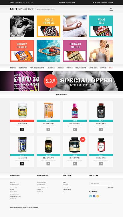 magento community templates - nutrition responsive magento theme