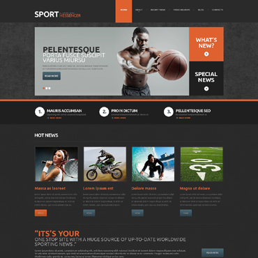 WordPress Theme # 48602