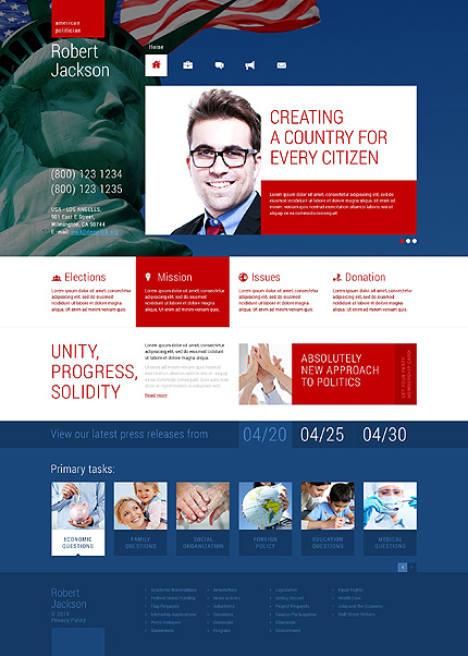 Politics Most Popular website inspirations at your coffee break? Browse for more WordPress #templates! // Regular price: $75 // Sources available: .PSD, .PHP, This theme is widgetized #Politics #Most Popular #WordPress