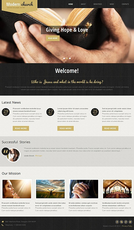 Religious website inspirations at your coffee break? Browse for more Moto CMS HTML #templates! // Regular price: $139 // Sources available:<b>Sources Not Included</b> #Religious #Moto CMS HTML