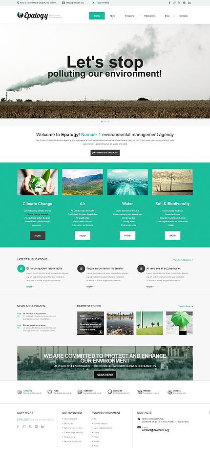 environmental protection plan template - environment protection responsive wordpress theme