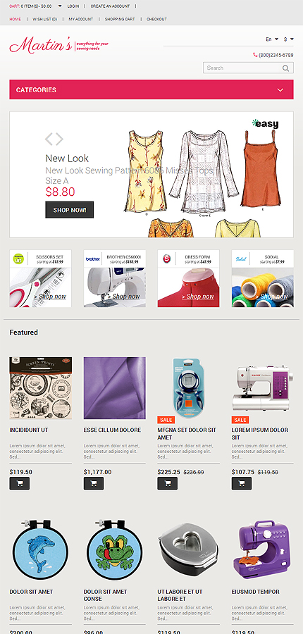 Hobbies & Crafts website inspirations at your coffee break? Browse for more OpenCart #templates! // Regular price: $45 // Sources available: .PSD, .PNG, .PHP, .TPL, .JS #Hobbies & Crafts #OpenCart
